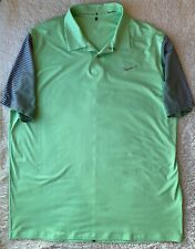 Nike Tiger Woods Tw Performance Graphic Polo Shirt Rare 585785-331 Green Sz Xl