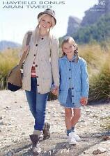 Sirdar 7246 Knitting Pattern Womens Girls Cardigans in Hayfield Bonus Aran Tweed