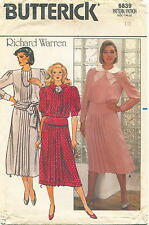 Butterick 6839 Misses Vintage Top & Skirt Sewing Pattern Size 12 Uncut
