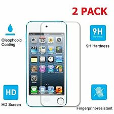 2 x High Quality Real Tempered Glass Screen Protector for Apple iPod Touch 5