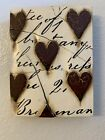 Sid Dickens Memory Block T-01 Red Hearts with Script retired