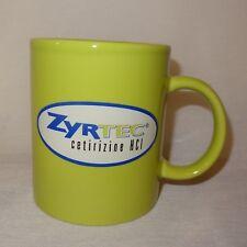 Zyrtec Cetirizine HCI Green Coffee Mug 10 oz Cup Ceramic Advertising