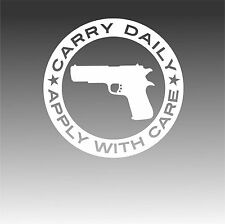 Conceal Carry Freedom Daily Gun Decal 2nd Amendment Right Bear Arms Sticker