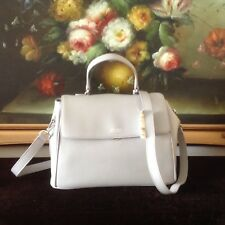 NWT Brooks Brothers WOMEN'S LEATHER CROSS BODY HANDBAG PURSE BAG GRAY