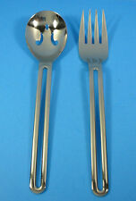 Vtg Tools of the Trade SS Japan DUKE Serving Fork & Pierced Spoon
