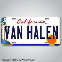 Van Halen Palm Trees Art Colony California Aluminum License Plate Tag New