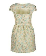 NEW Look Miss Real Curve Floral Lurex Cut Out Back Dress UK Size 24 Box1222 c