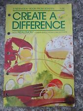 Vintage Create a Difference Real Lemon Borden Recipes Cookbook Booklet