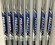 RIFLE PROJECT X 7.0 4-PW STEEL IRON SHAFTS .370 MINT LIMITED QUANTITIES NR