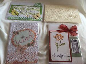 4 Handmade Cards + Envelopes Heartfelt Happy Birthday Wish Shooting USA Made