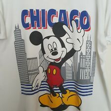 Chicago Mickey Mouse White XL TShirt  BEST Fruit of the Loom 50 50 Cotton Poly