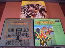 3 Sets Gilbert & Sullivan Opera Mikado/Sorcerer/Greatest Operettas 12 LP Records