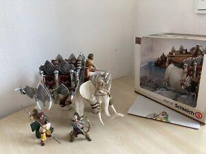 SCHLEICH 70063 + 42079 - Kampfelefant mit Aufsatz