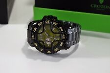 Croton Men's Automatic Black Ion Plated Watch CA301185BKGR