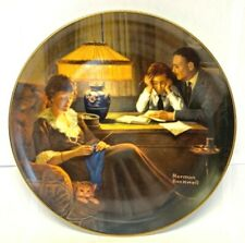 """Knowles Norman Rockwell """"Father'S Help"""" 8 1/2"""" Plate"""