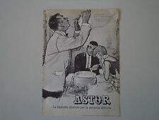advertising Pubblicità 1961 SIGARETTE CIGARETTES ASTOR