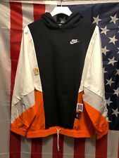 Nike Sportswear Icon Clash Pullover Hoodie Womens Size M Black Orange Cj2029-010