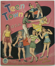 "New ListingGenuine Vintage Cut Merrill 1946 ""Teen Town"" Paper Dolls"