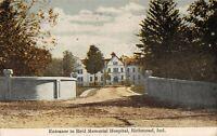 Richmond Indiana~Daniel Grey Reid Hospital Entrance~Abandoned~To Demolish~1911