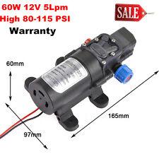60W 12V Water Pump 5Lpm Self-Priming Caravan Camping Boat High Pressure WARRANTY