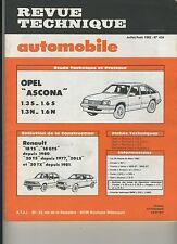 (105A) REVUE TECHNIQUE AUTOMOBILE OPEL ASCONA / RENAULT 18 et 20