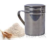 S Steel Powder Shaker Flour Sprinkler Dredger Sugar Cocoa Chocolate Coffee Salt