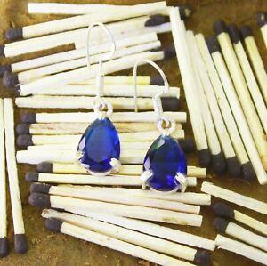 Blue Topaz Jewelry A Pair/Set  V 19.70Ct Elegant 925 Silver Earrings For Women