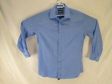 Bellissimo Men's Long Sleeve Dress Shirt Size 17T Blue