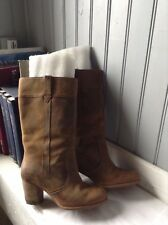 superbes bottes TIMBERLAND waterproof cuir huile brun .t 39,5 .(Sac39/L/Y/G)