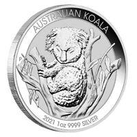 Silbermünze Koala 2021 Australien 1 oz in Stempelglanz