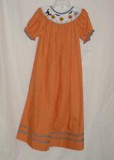 NWT Lolly Wolly Doodle Girls Orange HALLOWEEN Pumpkin Smocked Dress Size 6