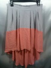 Ya Los Angeles a line Skirt - gray and peach - Womens Large L