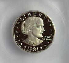 1981-S SUSAN B. ANTHONY DOLLAR ICG PR 70 DEEP CAMEO TYPE 2