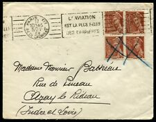 "Lot N°8693 FRANCE - N°416A Bloc de 4 Obl méca. + Càd ""PARIS 17/NOV/39"" - TB"