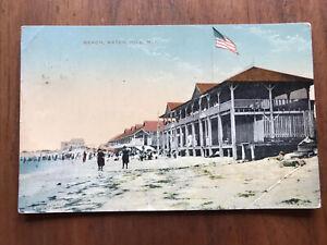 Beach Watch Hill Rhode Island Postcard Posted 1913  Hand Tinted, Amerchrome