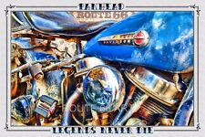 HARLEY DAVIDSON MOTORCYCLE VINTAGE PANHEAD OLD SCHOOL BIKER ART PRINT