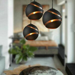 Glass Pendant Light Bar Lighting Modern Kitchen Black Ceiling Lights Home Lamp