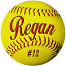 "2- Softball Decals Bumper Stickers 4"" Personalize Gifts Girls Boys Teams Sports"