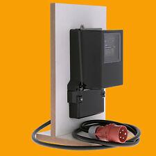 SIEMENS Drehstromzähler 10/60 A 230/400 V mit CEE Stecker und Steckdose 16A