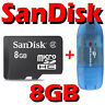 SanDisk 8GB Class 4 Micro SD SDHC MicroSDHC Card TF + R