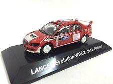 Japan Mitsubishi Lancer Evolution WRC2 2002 Finland 1:64 Rally Diecast Car