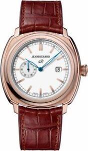 New Men's $20900 18 k Gold JEANRICHARD Watch 60330-52-132-001 Automatic  Swiss