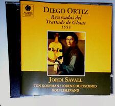 DIEGO ORTIZ RECERCADAS DEL TRATTADO DE GLOSAS 1553 JORDI SAVALL TON KOOPMAN CD