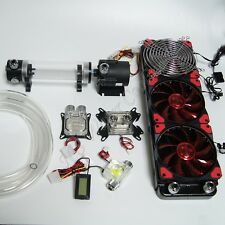 DIY Best Liquid Cooling 360 Radiator Kit Pump 190mm Reservoir CPU GPU HeatSink