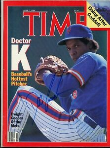 DWIGHT GOODEN NEW YORK METS	TIME MAGAZINE signed autographed