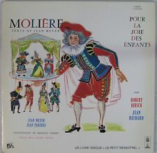 Molière Pour la joie des enfants 33 tours Robert Hirsch Jean Richard Tapiéro