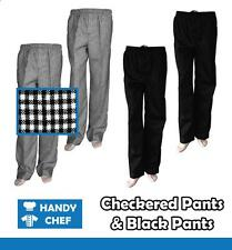 Chef Pants - Check Or Black Pants - Premium Quality Chef Pants! - Sold Over 1000