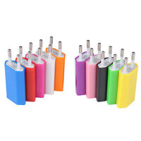 EU Wall Charger 5V 1A Fast Charge USB Power Adapter Colours Travel Adaptor Hot