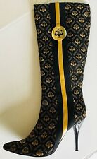 Dereon by Beyonce Women Stiletto Knee High Boots  S8,5 Textile Upper Rubber Sole