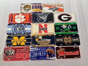 NCAA College Assorted Teams Plastic License Plate Wincraft New